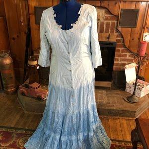 Vintage Together by Spiegel Ombré Crinkle Dress